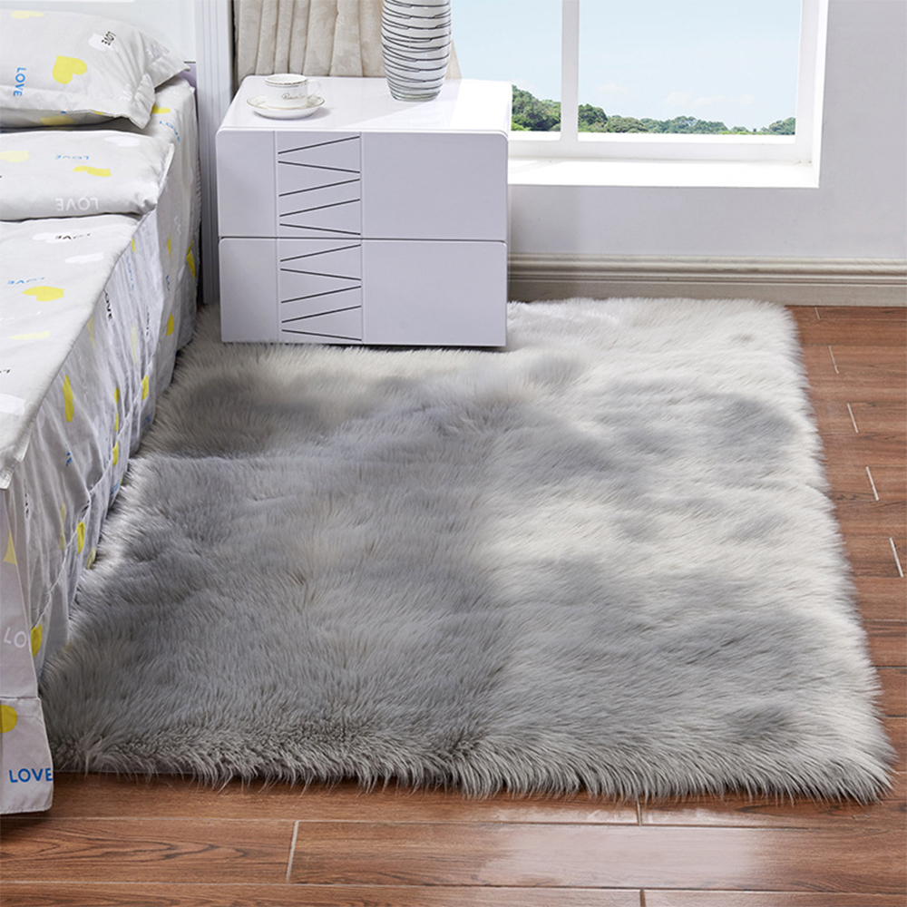 Details About Bedroom Soft Fluffy Rugs Anti Skid Shaggy Area Rug Dining Room Carpet Floor Mat