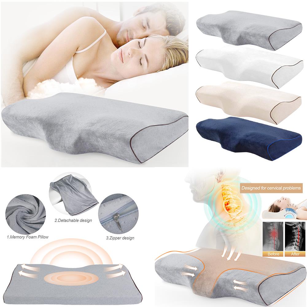 Memory Foam Pillow Butterfly Shaped Relax Pillows Slow Rebound Pillow 50x30cm UK