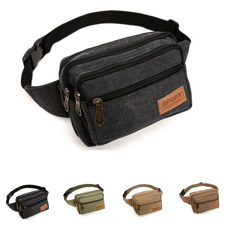 Mens Women Waist Bag Fanny Pack Zip Pouch Travel Festival Sports Holiday Satchel
