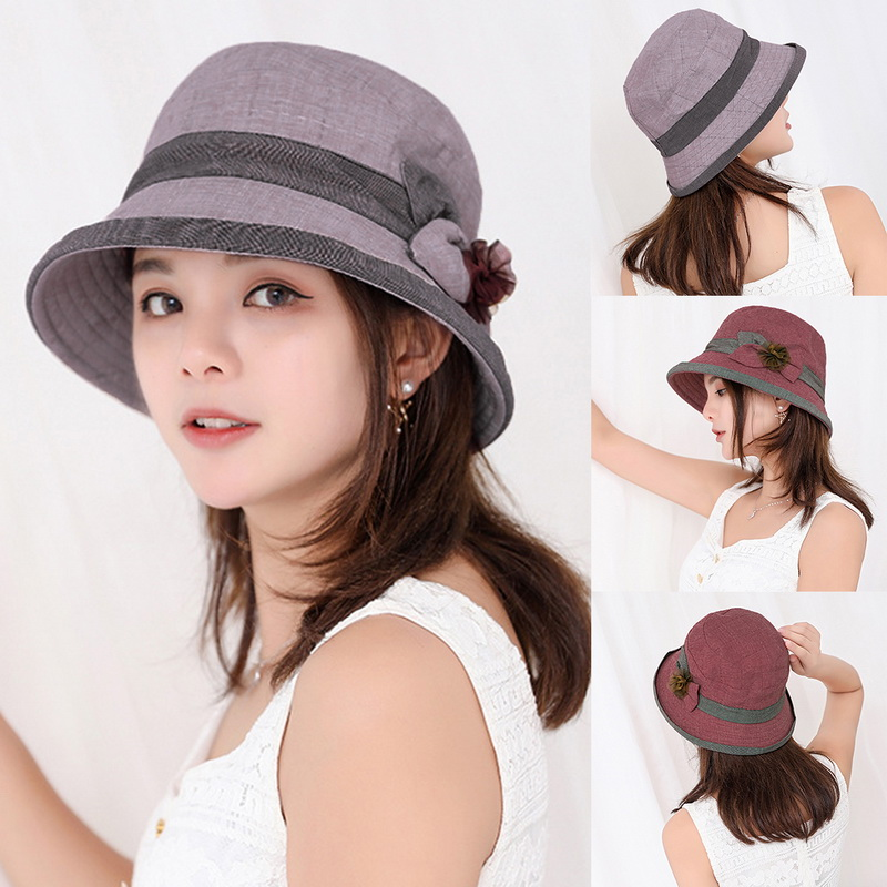 d86eee343de89b Details about Fashion Women Man Cotton Bucket Hat Summer Fishing Fisher  Beach Festival Sun Cap