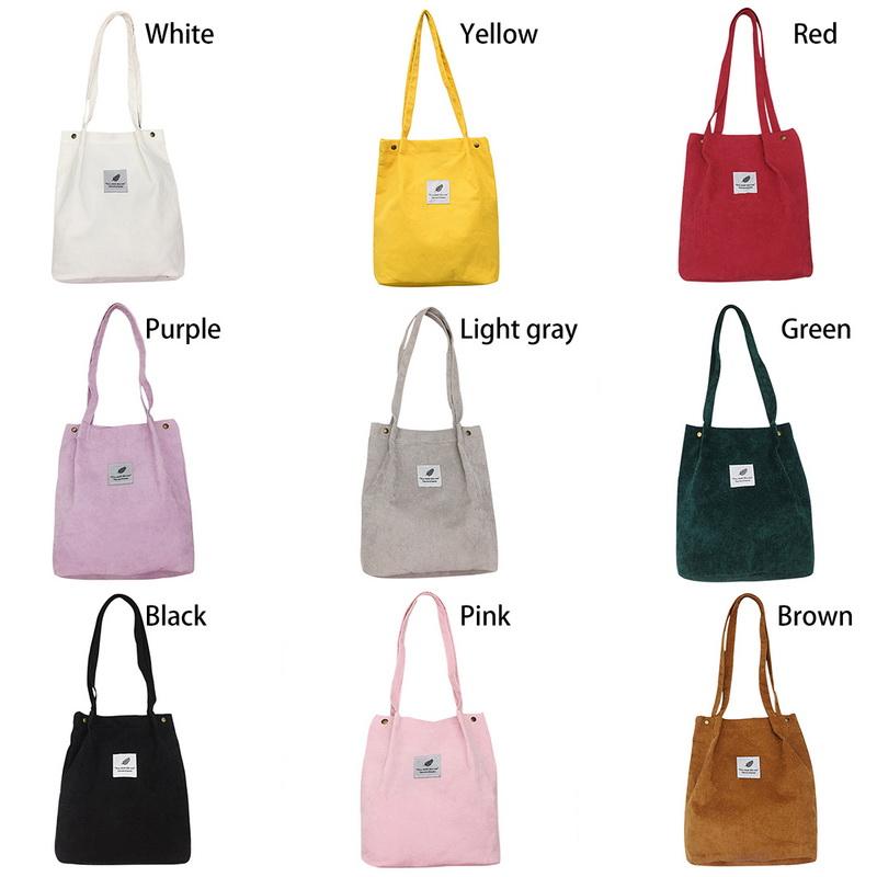 cdc4db9b83d92 Details about UK Lady Durable Canvas Tote Large Capacity Handbag Corduroy  Casual Shoulder Bags