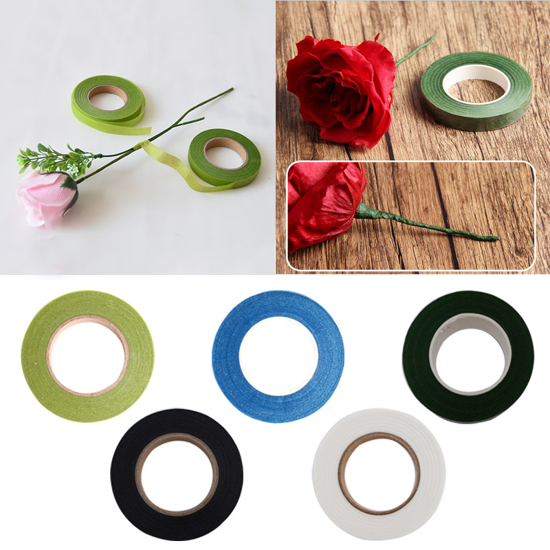 27m Parafilm Wedding Craft Florist Stem Wrap Floral Tape Waterproof Many Colors