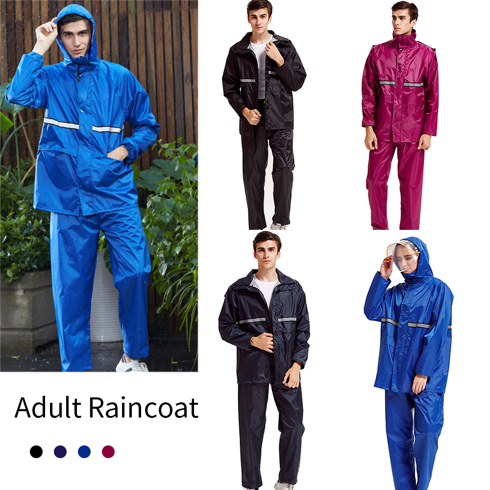 search for official street price brand new Details about Adults Waterproof Suit Jacket & Trousers Packaway Rain Set  Womens Mens Ladies