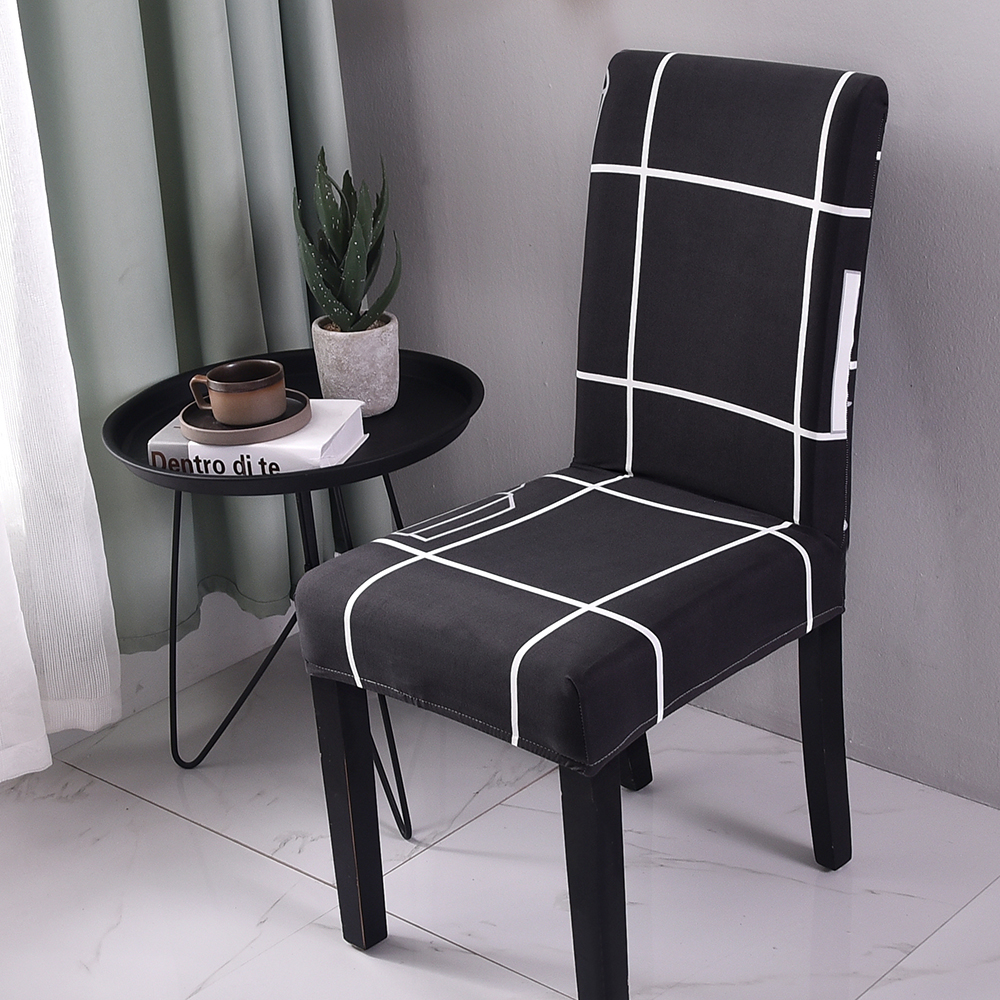Dining Room Chair Protective Covers: Newest Elastic Dining Chair Covers Slipcovers Kitchen