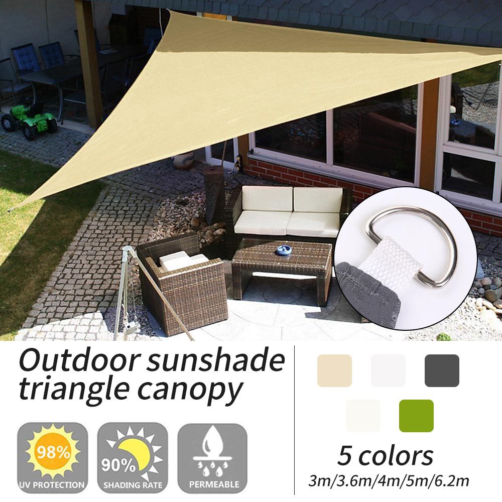 Triangle Sun Shade Sail 98/% UV Block Garden Patio Screen Canopy Sunscreen Awning