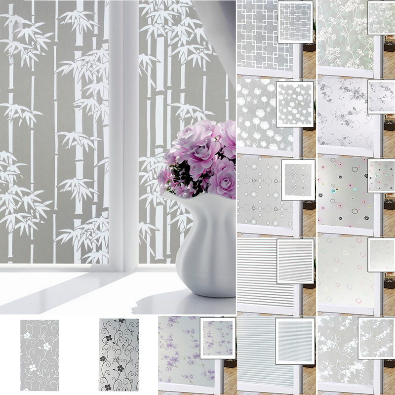 Details About Bedroom Bathroom Home Glass Window Door Privacy Film Sticker  PVC Frosted USA