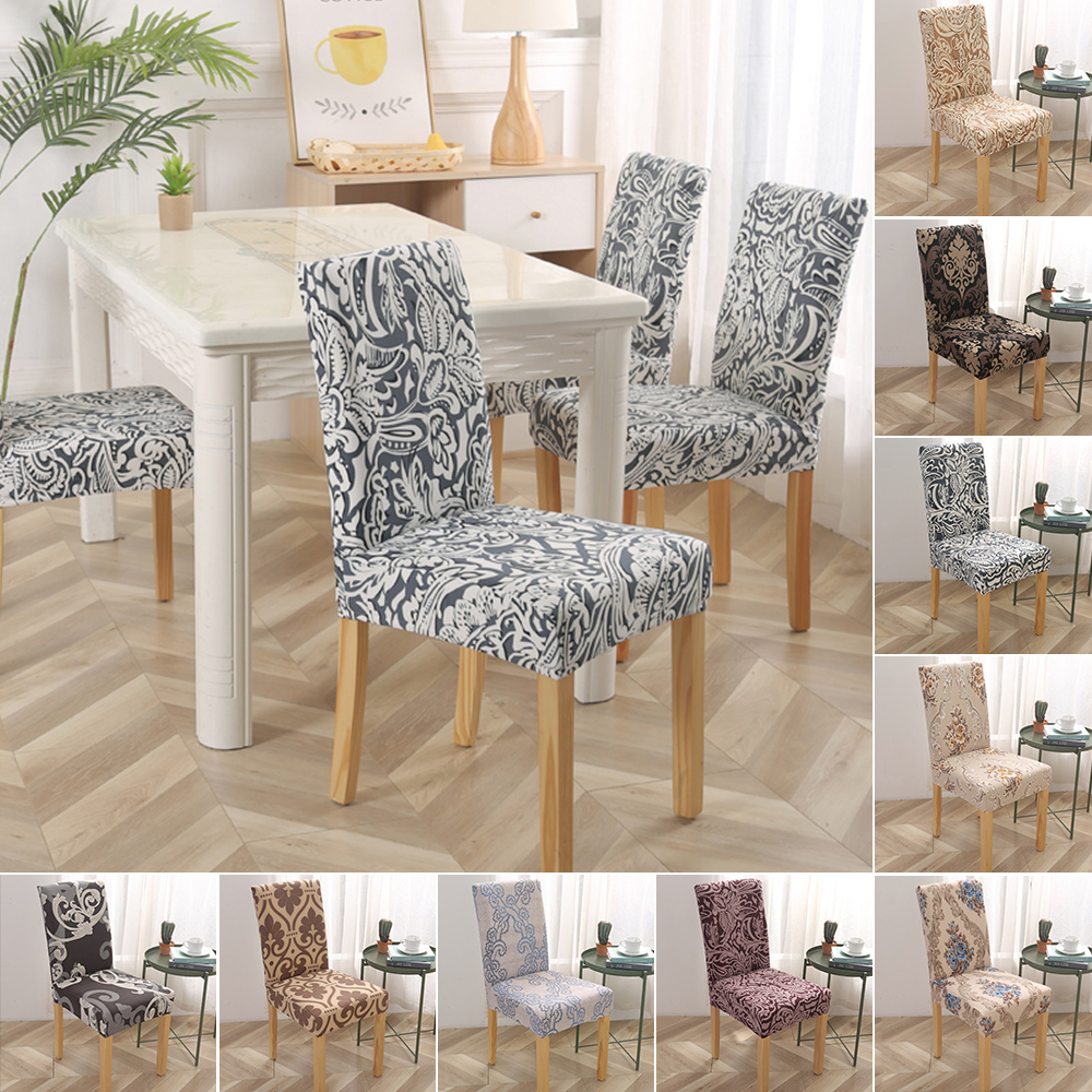 4//6pcs Dining Room Removable Chair Covers Wedding Banquet Seat Protective Cover