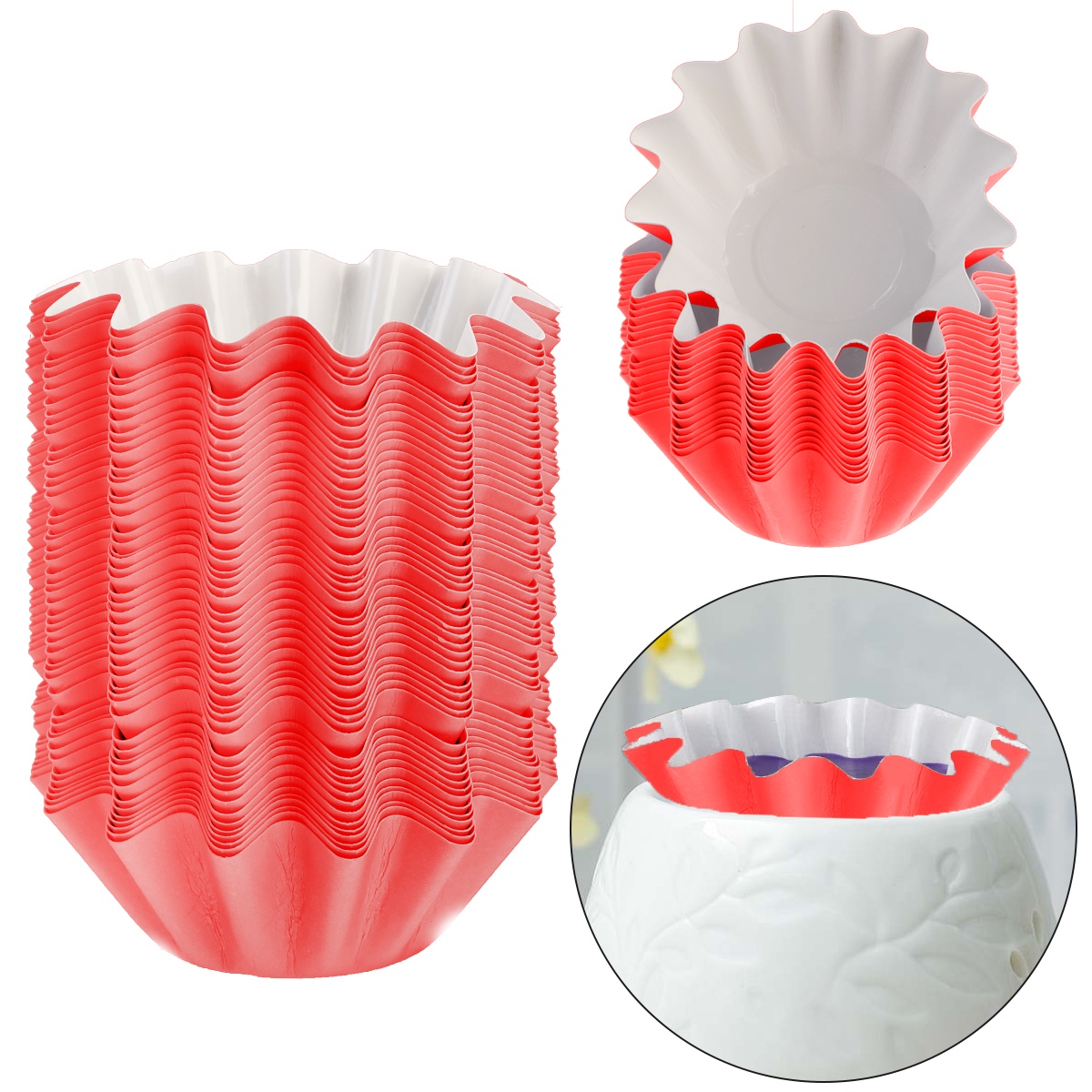 50//100Pcs Wax Melt Warmer Liners Scented Candle Warmers Melter Burner Reusable !