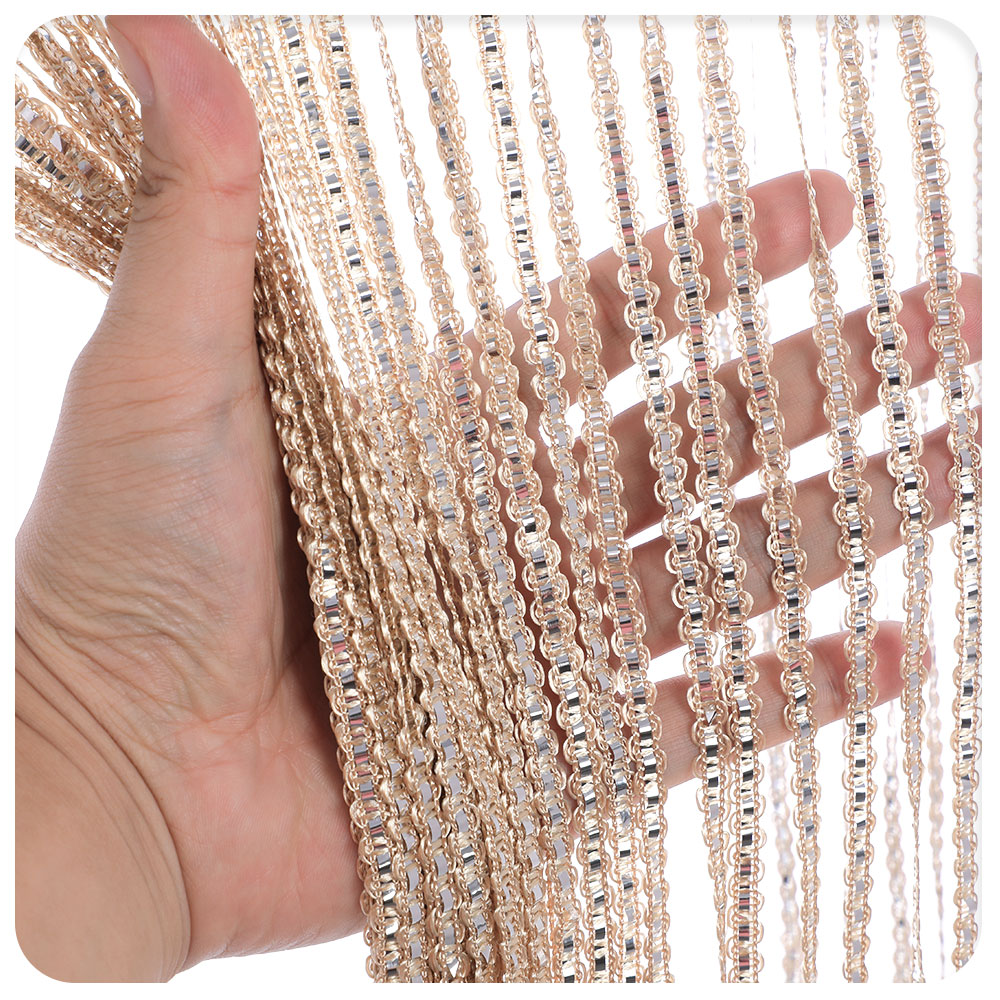 Fringe Crystal Beaded String Door Curtain Room Window Divider Blinds Fly Screen