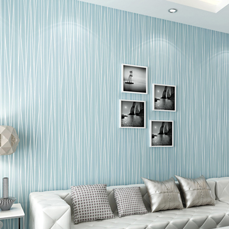 Details about 450cm Wallpaper Roll Stripe Textured Wallpaper Home Bedroom  Background Decor AU