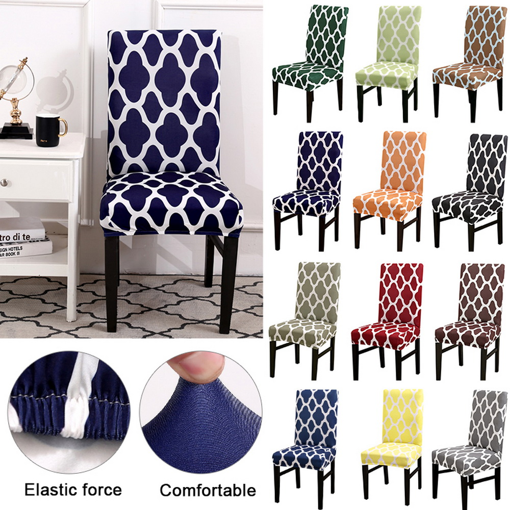 Details about Elastic Dining Chair Covers Slipcovers Kitchen Chair  Protective Covers UK SELLER