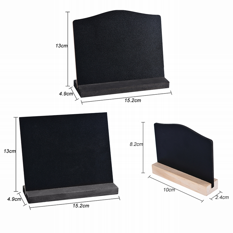 Double Sided Small Tabletop Blackboard Wooden Stand Chalkboard Home