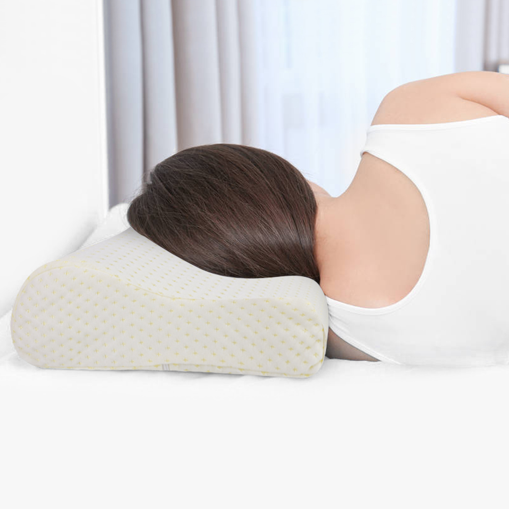 Orthopaedic Pillow Head Neck Support Bamboo Contour Memory Foam Pillow 2 Sizes