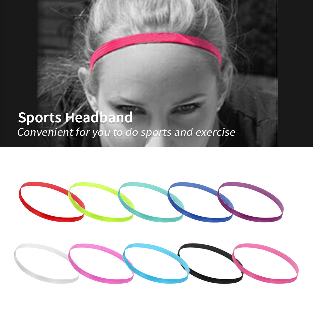 Colorful Headband Women Anti-slip Yoga HairBand Elastic Sweatband Sports LY