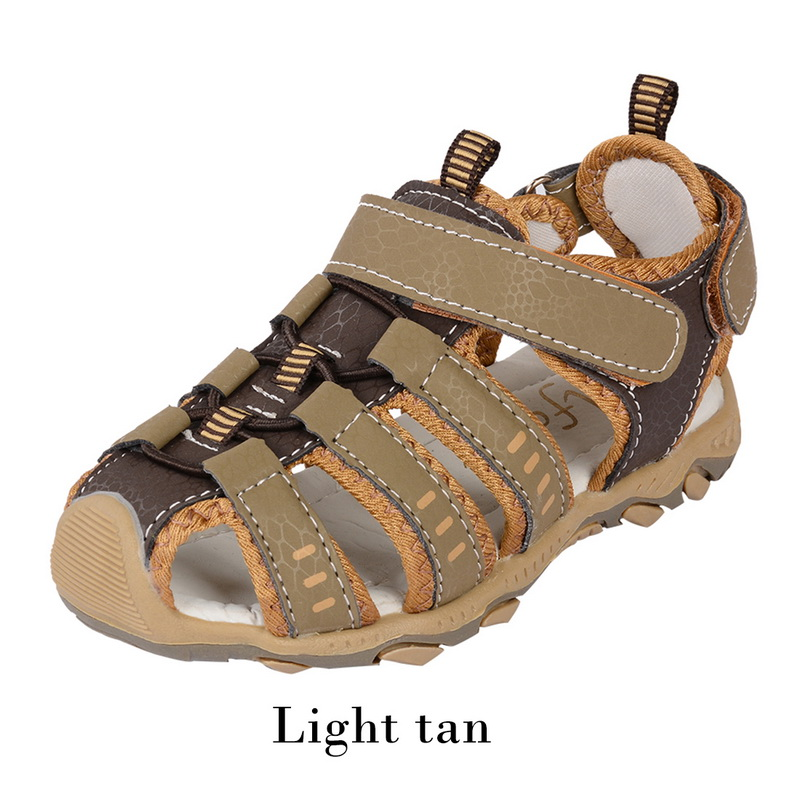 Toddler Kids Leather Shoes Baby Boys Closed Toe Summer
