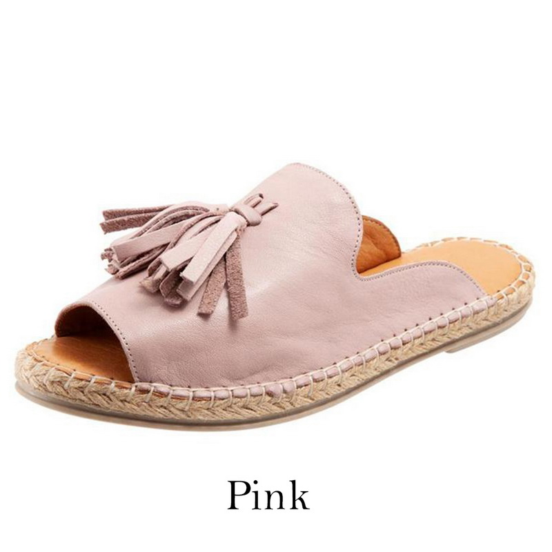 Womens Slip On Sandals Bow Flat Mule Summer Sliders Espadrille Shoes Sizes W3L1