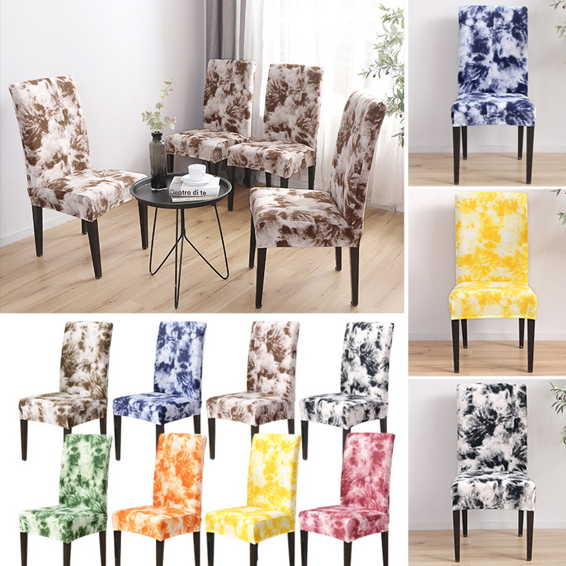 Details About Us Stretch Dining Chair Covers Slipcovers Ing Protective