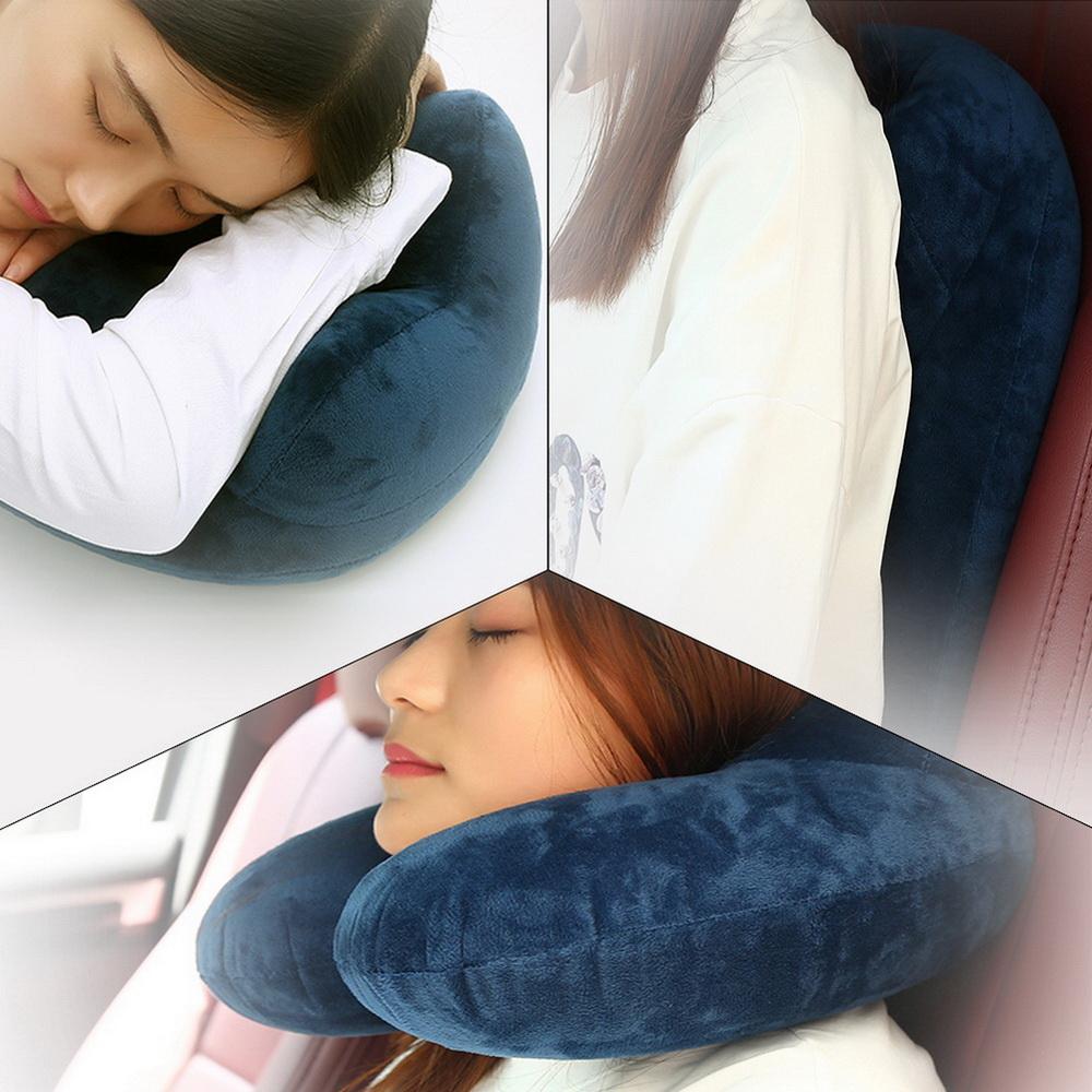 Memory Foam U Shaped Travel Pillow Neck Support Head