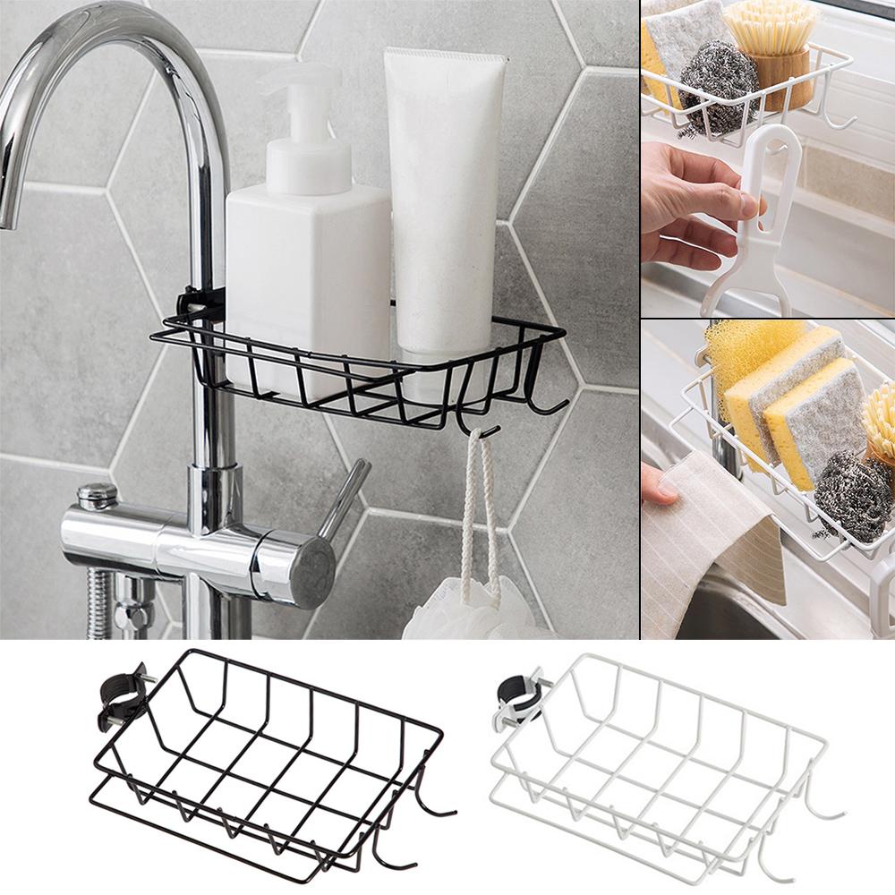 Details about Kitchen Sink Faucet Sponge Soap Cloth Drain Rack Storage  Organizer Holder-Shelf
