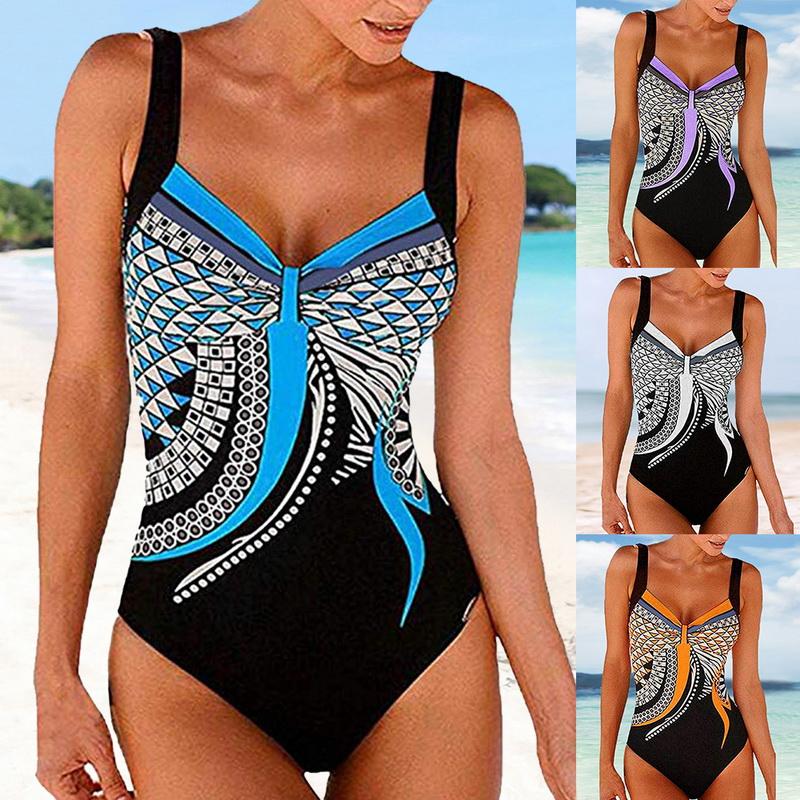 6a884ddcb1 Women's Swimming Costume Padded Swimsuit Monokini Push Up Bikini Beach  Swimwear
