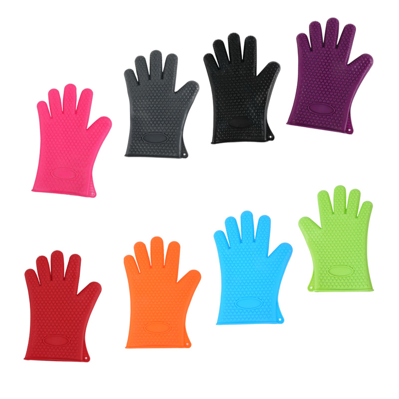1pc heat resistant gloves kitchen pot holders cooking oven mitts gripping CN