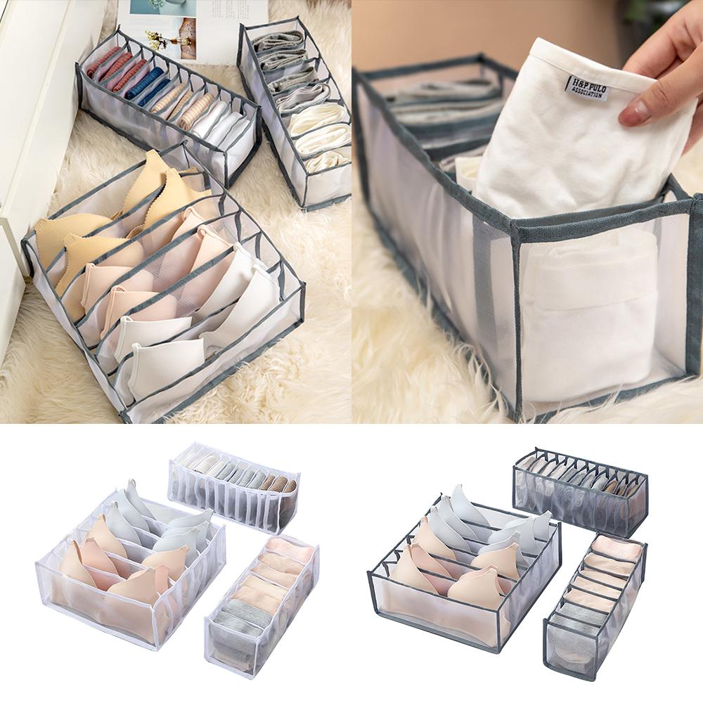 Underwear Socks Tie Storage Organizer Drawer Bra Pants Divider Tidy Wardrobe