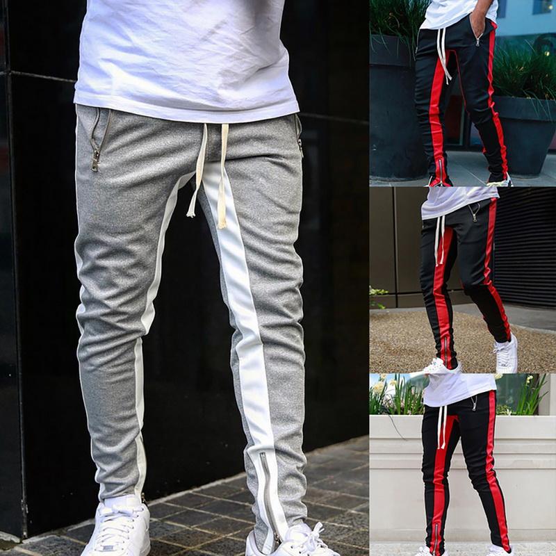 Fashion Men Track Pants Casual Sports Jogging Bottoms Jogger Gym Sweats Trousers
