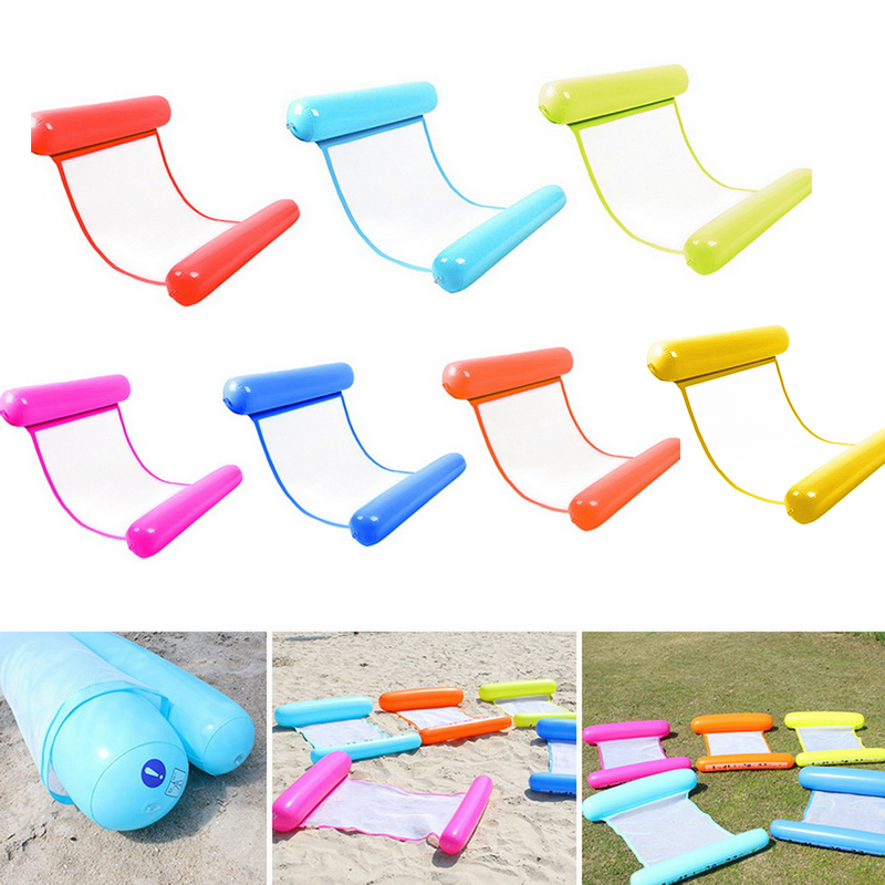Inflatable Floating Water Hammock Float Lounge Bed Swimming Pool Chair Pump da#