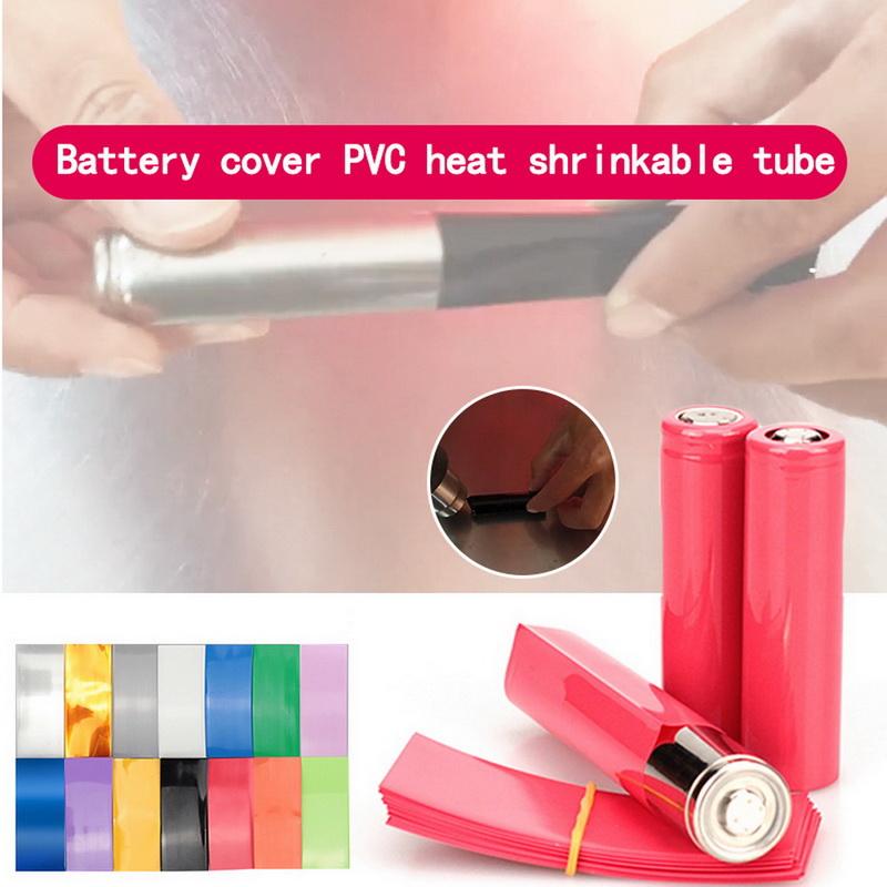 100X 18650 Battery Wrap PVC Heat Shrink Tubing Precut Battery Film Tape Cover