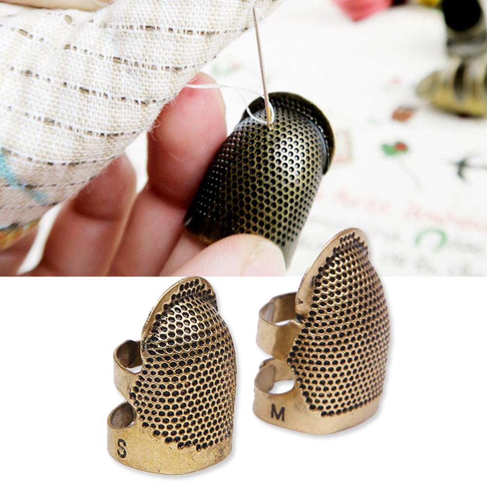 Accessories Vintage Gold Needle Thimble Finger Protector Antique Ring Metal