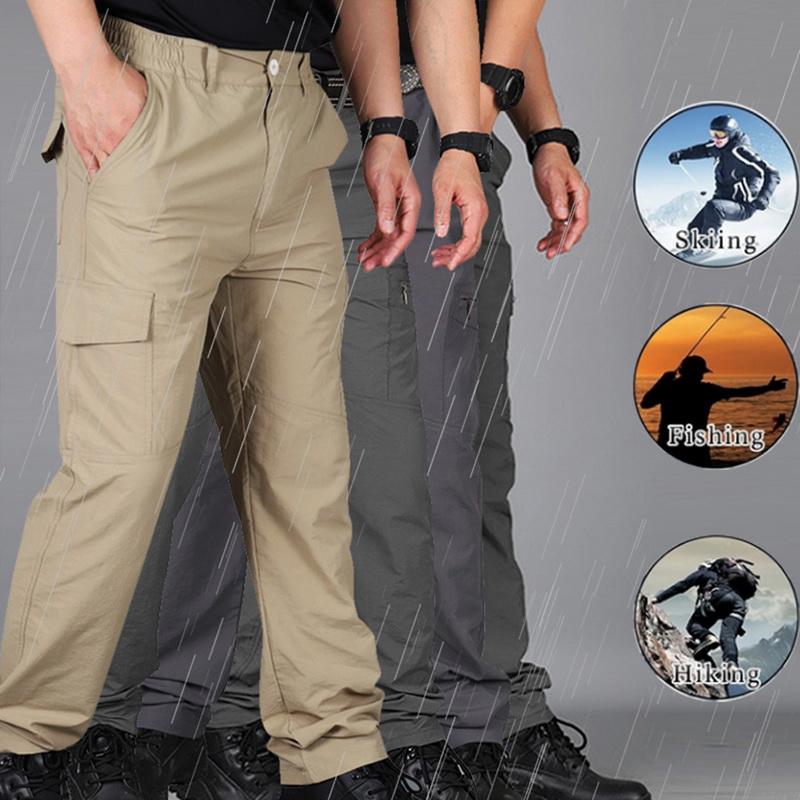 Men Soldier Tactical Waterproof Pants Casual Pants Combat Hiking Outdoor A6972