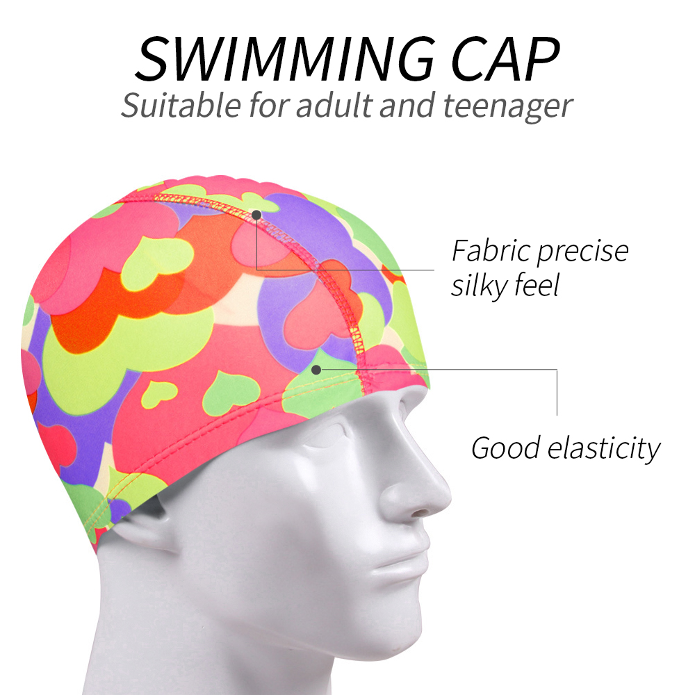 Unisex Adult Easy Fit For Swimming Hat Swim Cap Bathing Nylons Spandex Fabric US