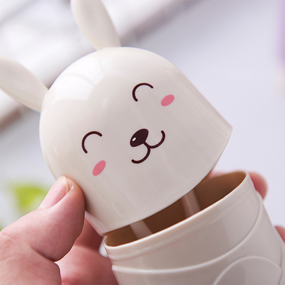 Portable Travel Kids Cartoon Stand Rabbit Cute Toothbrush Holder Container Box
