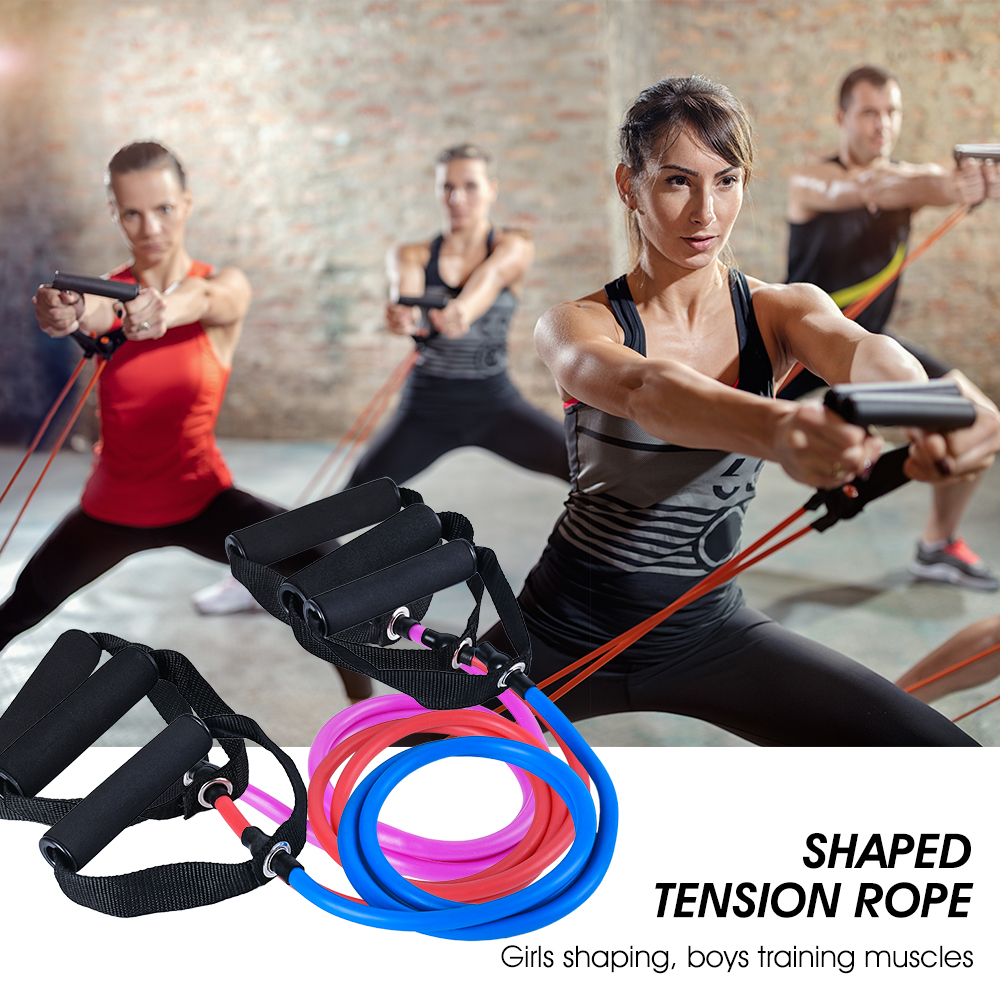 Sport Resistance Band Pilates Tube Rope Gym Yoga Fitness BoxingWorkout Cord