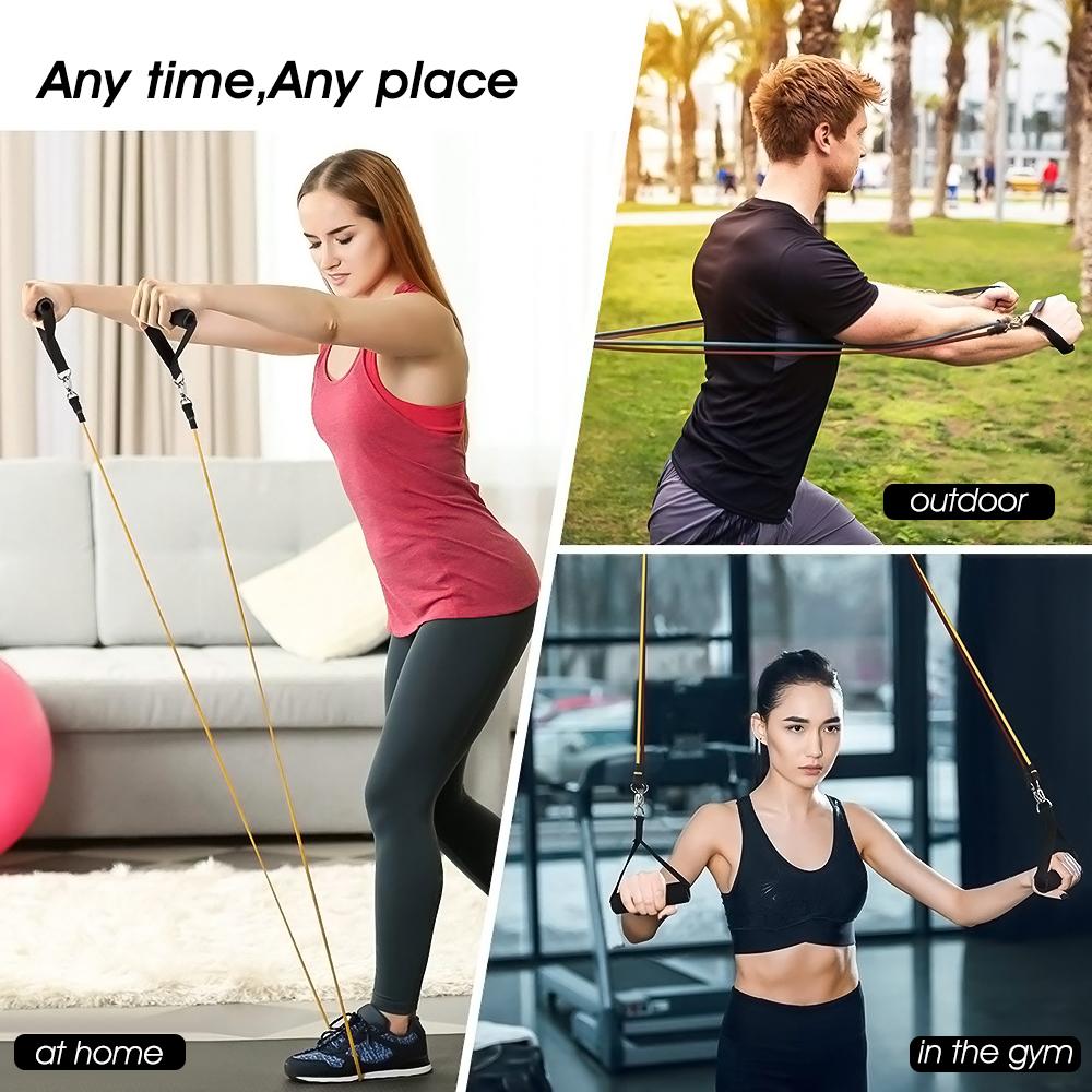 US Heavy Duty Sport Yoga Elastic Latex Resistance Band Training Tube Pull Rope