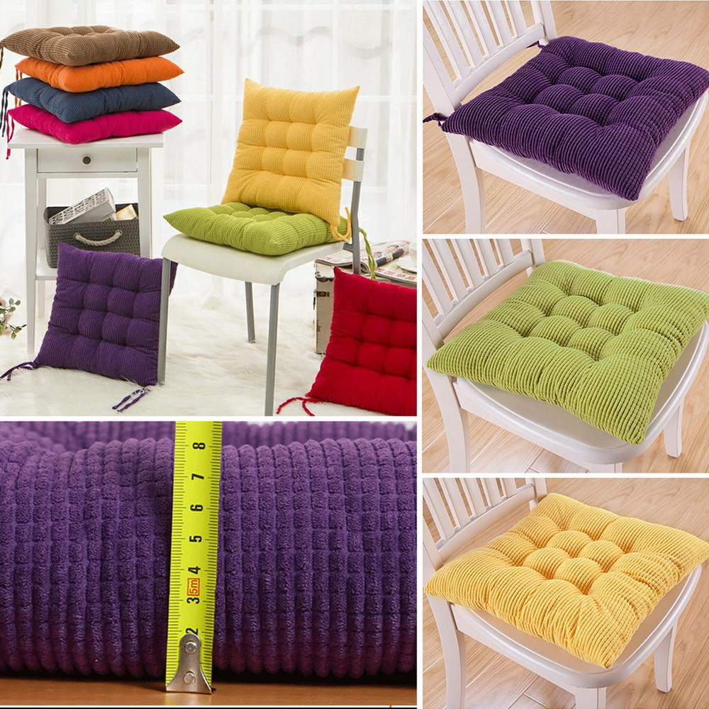 Colourful Seat Pad Dining Room With