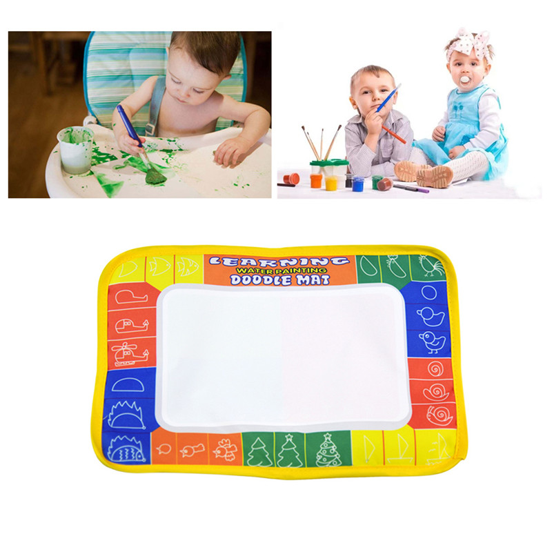 Magic Drawing Water Pen Painting Doodle Mat Board Kids Painting Toy UV