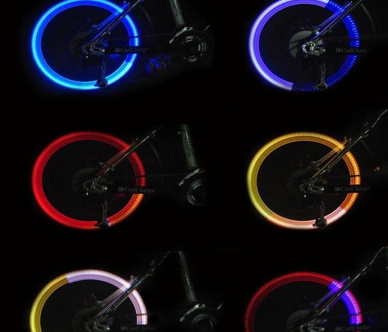 4X LED Tire Valve Cap Lamp Spoke light Flash For Bike Bicycle Car Motor Wheel EC