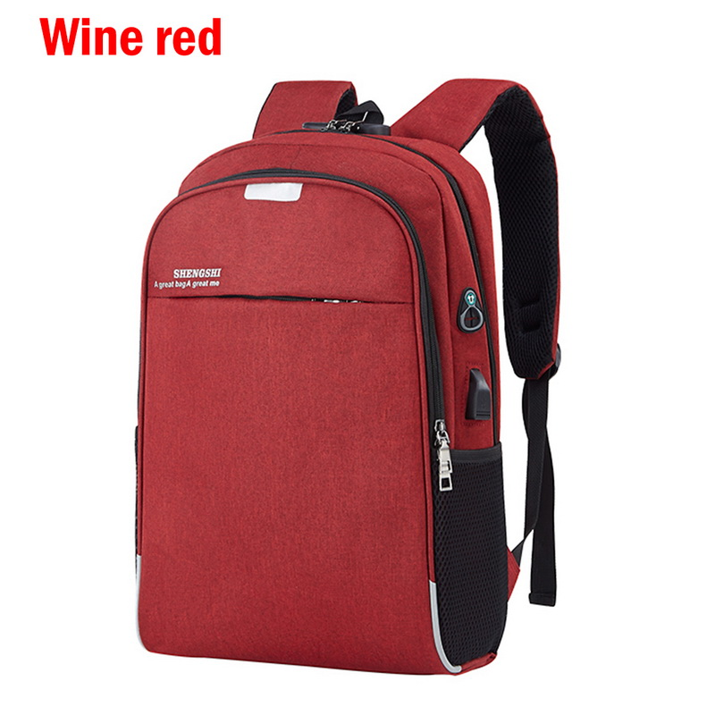 Unisex Anti-Theft Laptop Backpack Travel Business School Bags Rucksack USB Port