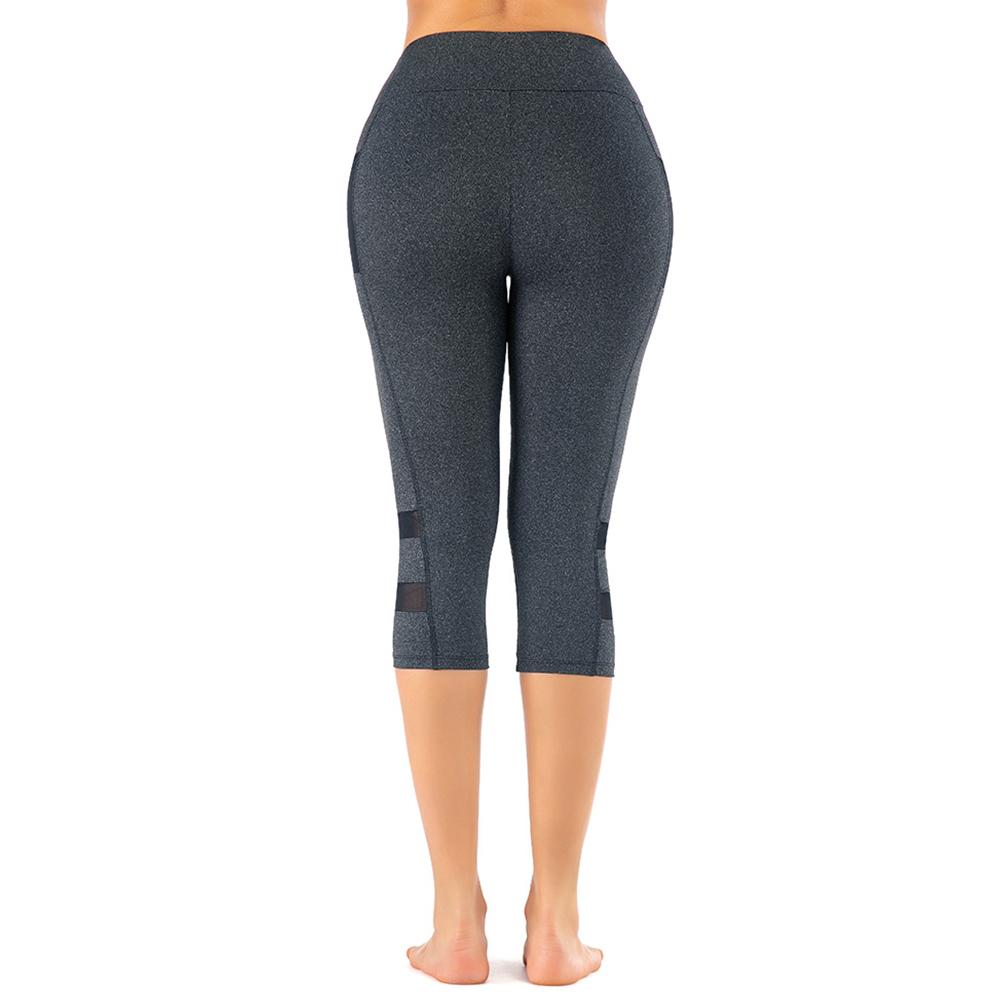 Plus Size Womens Skinny Yoga Pants Workout Leggings Mesh