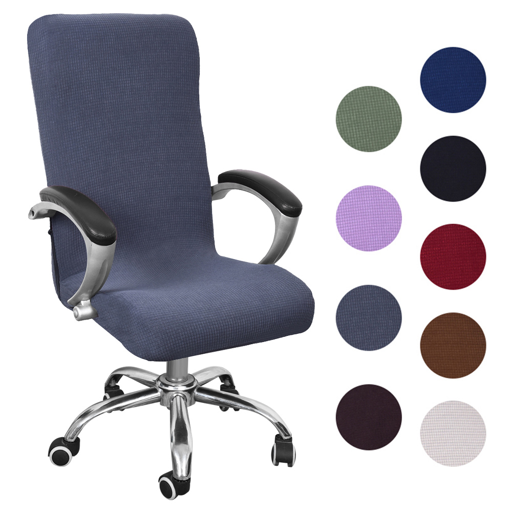 Protective Chair Cover Stretchy Armchair Swivel Chair Office Room Decor 4 Colors