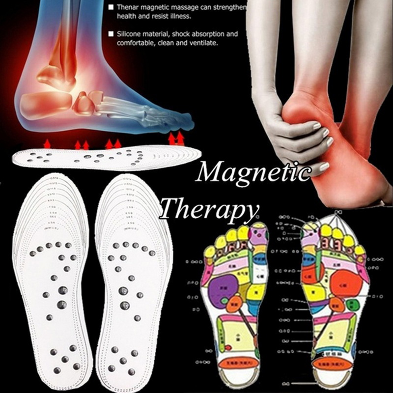 1Pair Flexible Massage Insole Magnetic Therapy Foot Massager Shoe Inserts Health