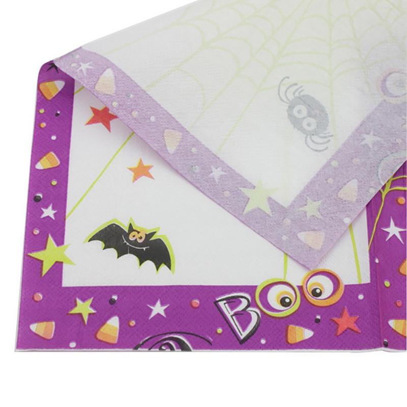 20pcs Halloween Party Napkins Serviettes Napkins Day Of Dead Party 33cm