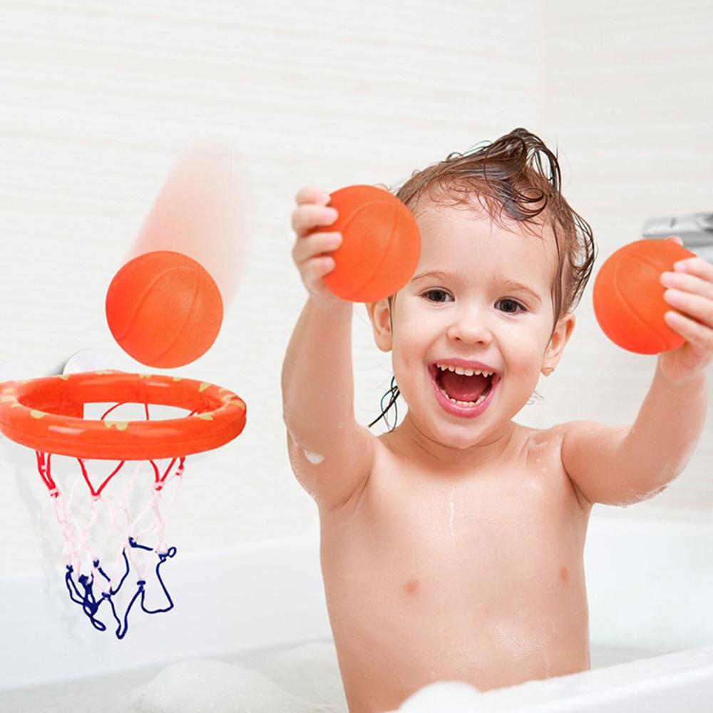 Mini Bathroom Basketball Shooting Toys Set Children Bathing Baby Shower Toy Gift