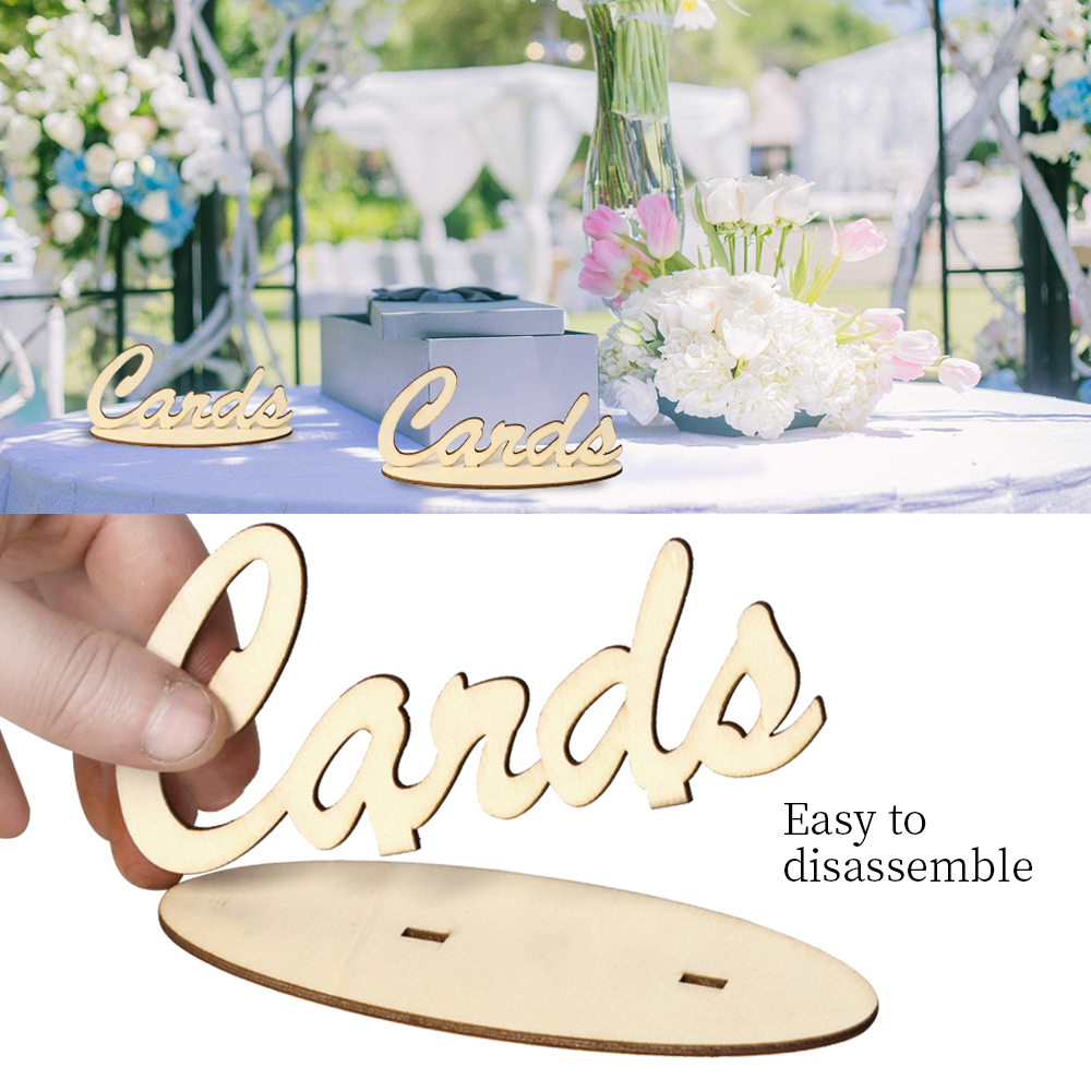Cards Letters Words Wooden Free Standing Sign Table Wedding Party ...