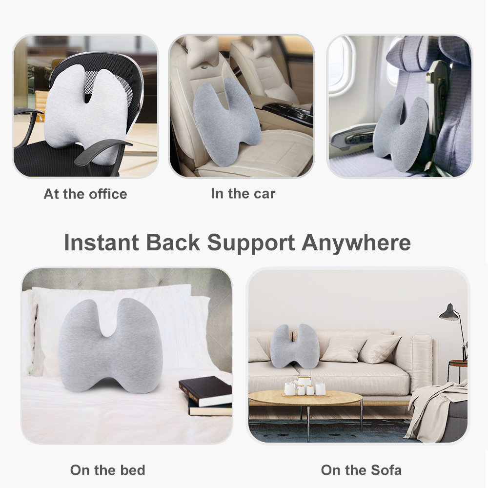 Details About Us Lower Back Lumbar Support Cushion Pain Relief Pillow For Office Chair Car H8