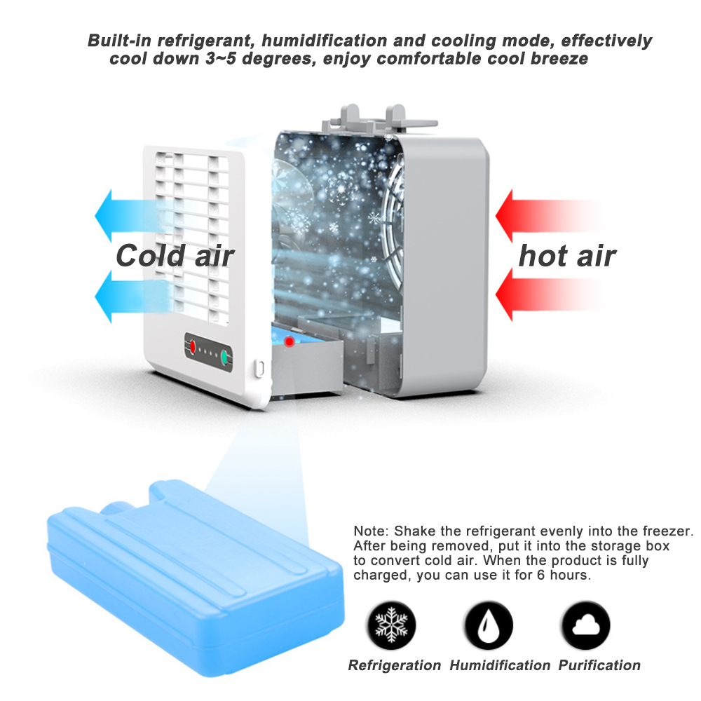 Portable Mini Conditioner Cool Cooling Artic Cooler Fan