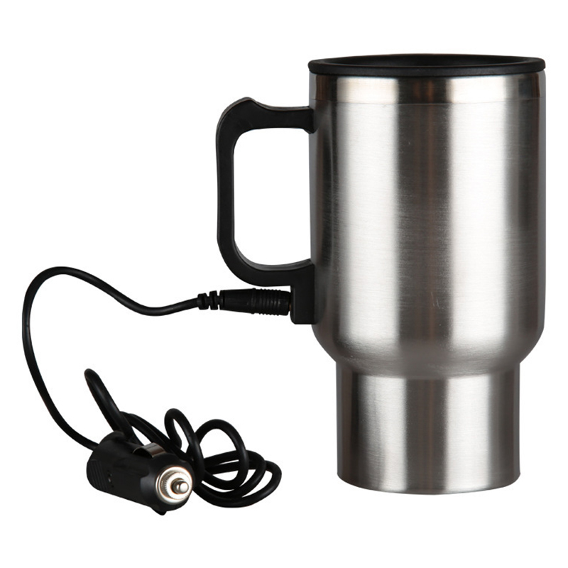 Car Heating Cup,12V//24V 300ml Car Electric Coffee Tea Water Mug Safe to Drink and Durable Vehicle Heating Drinking Cup Bottle 12V