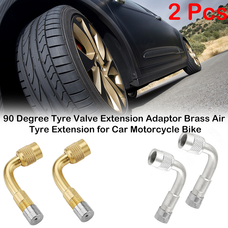 Brass Air Tyre Valve Extension Car Truck Motorcycle Wheel Tires Part 45 Degree