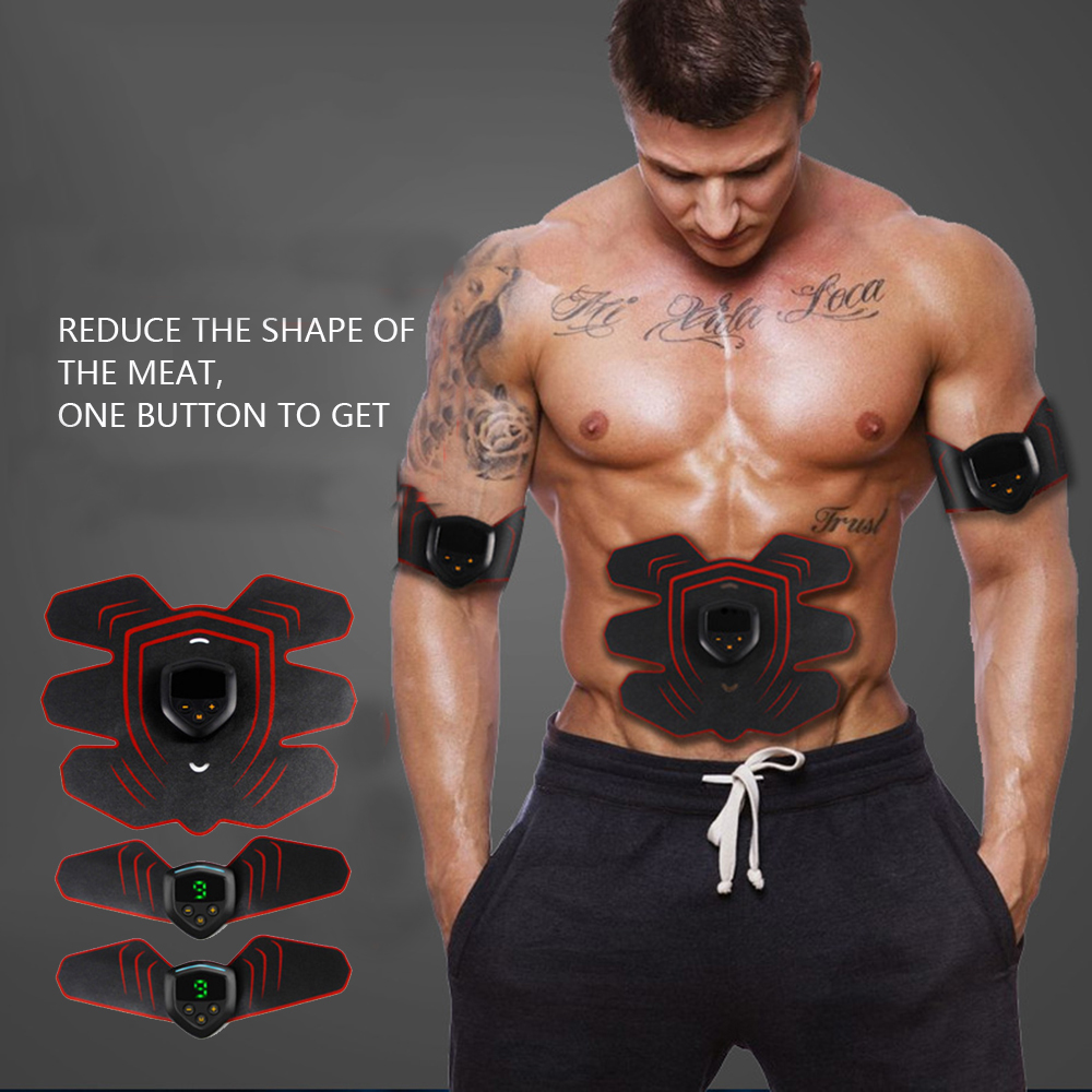 Stimulator Abdominal Muscle Toner Trainer Portable USB Charge Toning Belt Fitness Equipment & Gear Sporting Goods